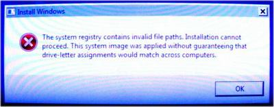 System Registry File Paths Error