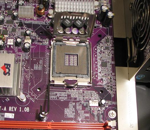 Lift The CPU Socket Braket