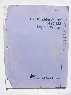 The BrighterWriter Impact Printer Manual
