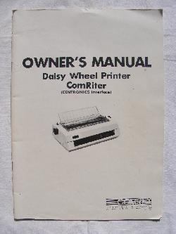 The Comrex Daisy Wheel Printer Manual