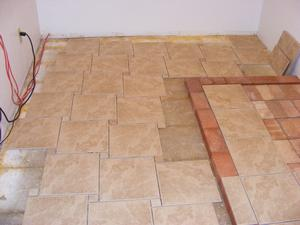 Ceramic Tile Floor and Wall Install